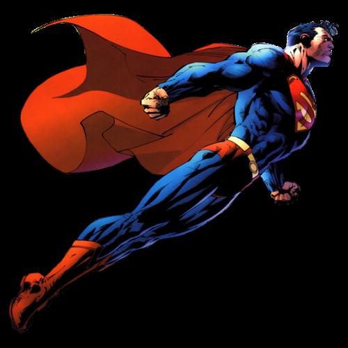 Superman soaring