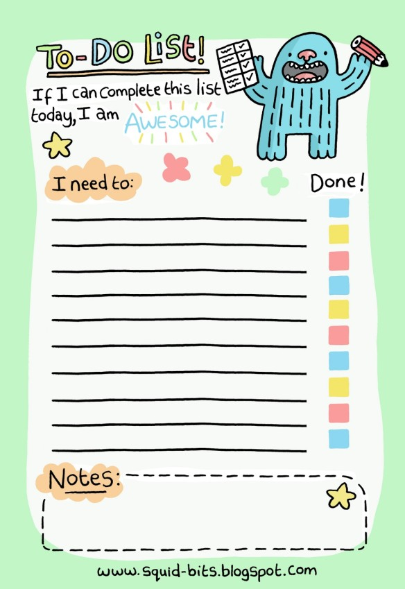 is there a better to do list than this? You can get more information at the URL listed on the image. I love this to do list!