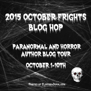 Just click this image to be whisked away to the a world where October rolls on to somewhere long past forever - the October Frights Bloghop!