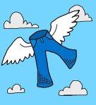 flying pants