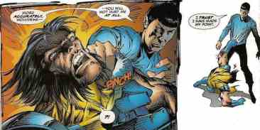 Wolverine beaten by Spock